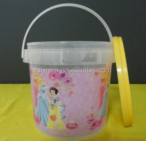 Hot sale confectionery plastic barrel / plastic packaging bucket/ jar