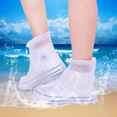 High Quality Men Women's Rain Waterproof Boots Cover Heels Boots Reusable Shoes Covers Thicker Non-slip Platform Rain Boots