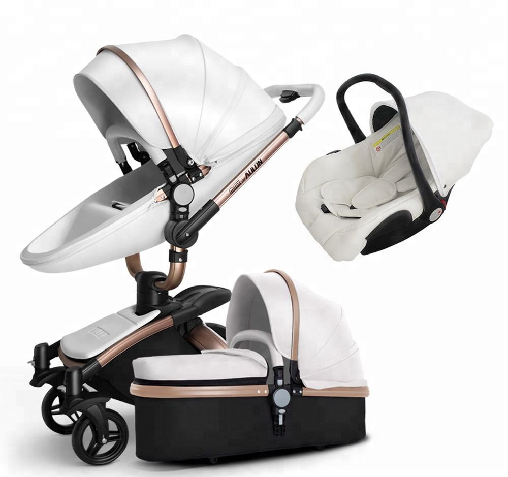 Baby Stroller 2019 Newest Popular 360 Degree 3-1 Baby Pram