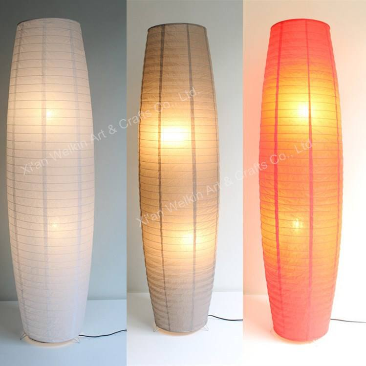 LED red paper lantern floor lamp wholesale
