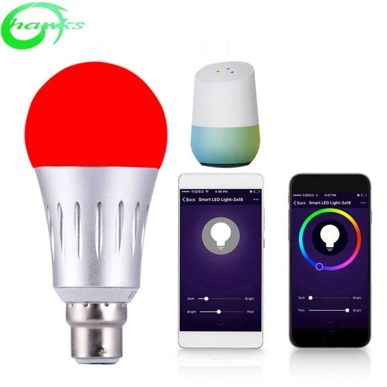 Smart WiFi Light Bulb 7W E27/B22/E14 RGBW Dimmable Wireless WiFi Remote Control Bulb Lamp Light For Amazon Echo Alexa