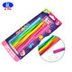 EN71 funny soft promotional customized blister packing multicolour scented twisted erasers for kids