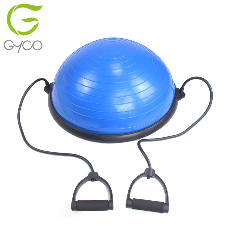 Yoga Übung Ball Trainer mit Widerstand Bands Fuß Pumpe Halb Balance gym ball