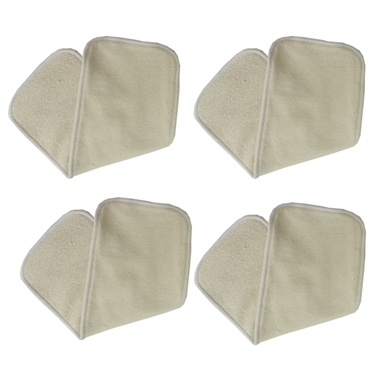 Hot Sale Antibacterial charcoal Bamboo Cloth Diaper liners reusable hemp cotton microfiber nappy Inserts urinal changing pads