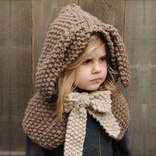 Kids Knit Cap Crochet Animal Rabbit ear Hat Scarf Warm Winter Hat Handmade Coif Hooded Beanie Hat for Boy Girls