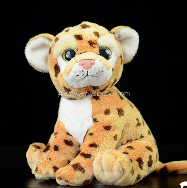 free sample plush leopard toy/leopard stuffed animal toy/lifelike plush puppy leopard toy soft stuffed animal toy