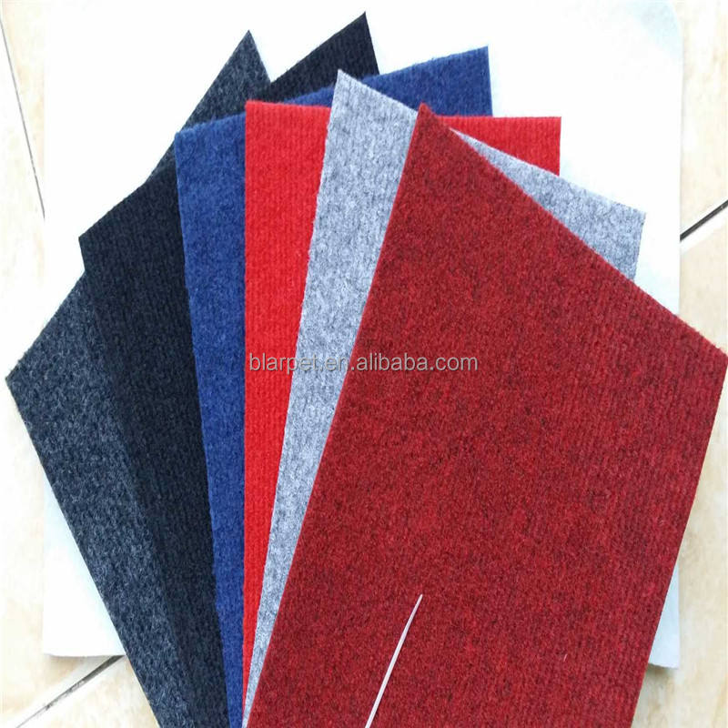 Commercial Felt Non woven Ribbed needle punch carpet