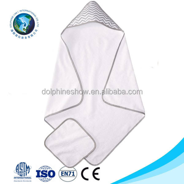 Warm soft white baby bamboo hooded bath towel Wholesale LOW MOQ cheap plain 100% cotton bath towel