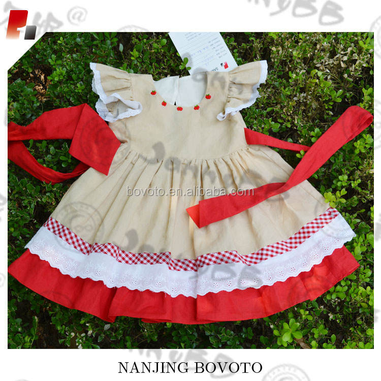 Girls Embroidery Dress Baby Girls Christmas Dress