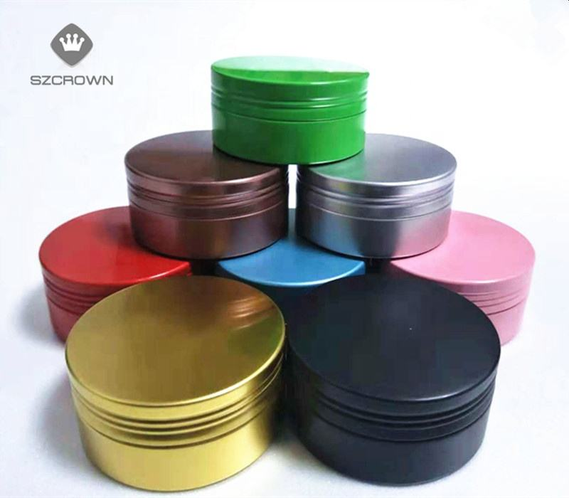 Wholesale 30-70ml High Quality Multiple Colour Aluminium Round Tin Box