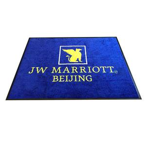 Custom New Design Nylon Printed Rubber Backing Logo Salon Floor Mat Tapete De Entrada Holiday Door Fireproof Absorbent Doormat