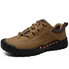 Wholesale Cowhide Breathable High Quality Men Casual Outdoor hiking shoes working shoes for men