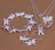 copper plated Rhodium jewellery dragonfly necklace and earrings and bracelet sets three pieces