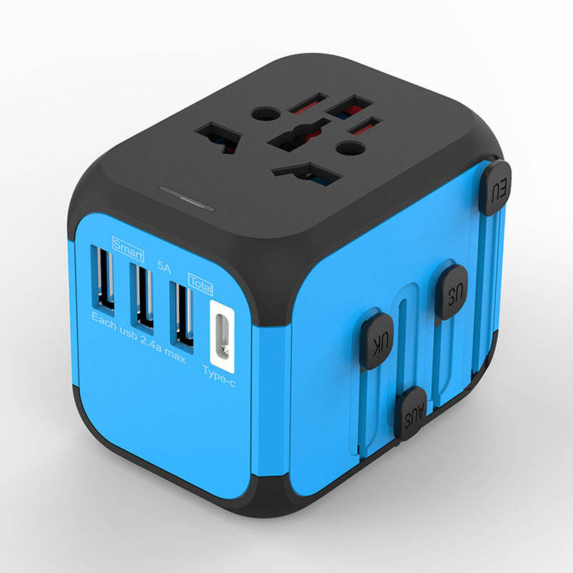 Newest travel promotion gift 2019 corporate custom gift Type C travel adapter