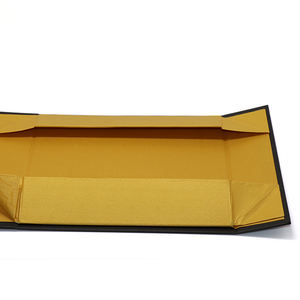 Magnet Box Carton Black Rigid Flat Luxury Magnetic Folding Storage Paper Gift Box With Ribbon