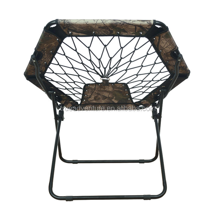 Round Folding Comfortable Lightweight Portable Indoor Outdoor Camping Sports Bungee Chair