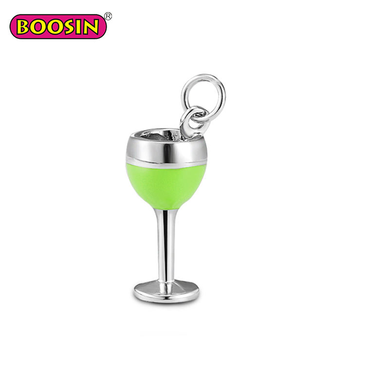 10 Tibetan Silver Champagne Glass Charms Pendants Wine