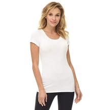 Women's Perfectly Soft Basic Fitted Short Sleeve Scoop Neck T-shirt