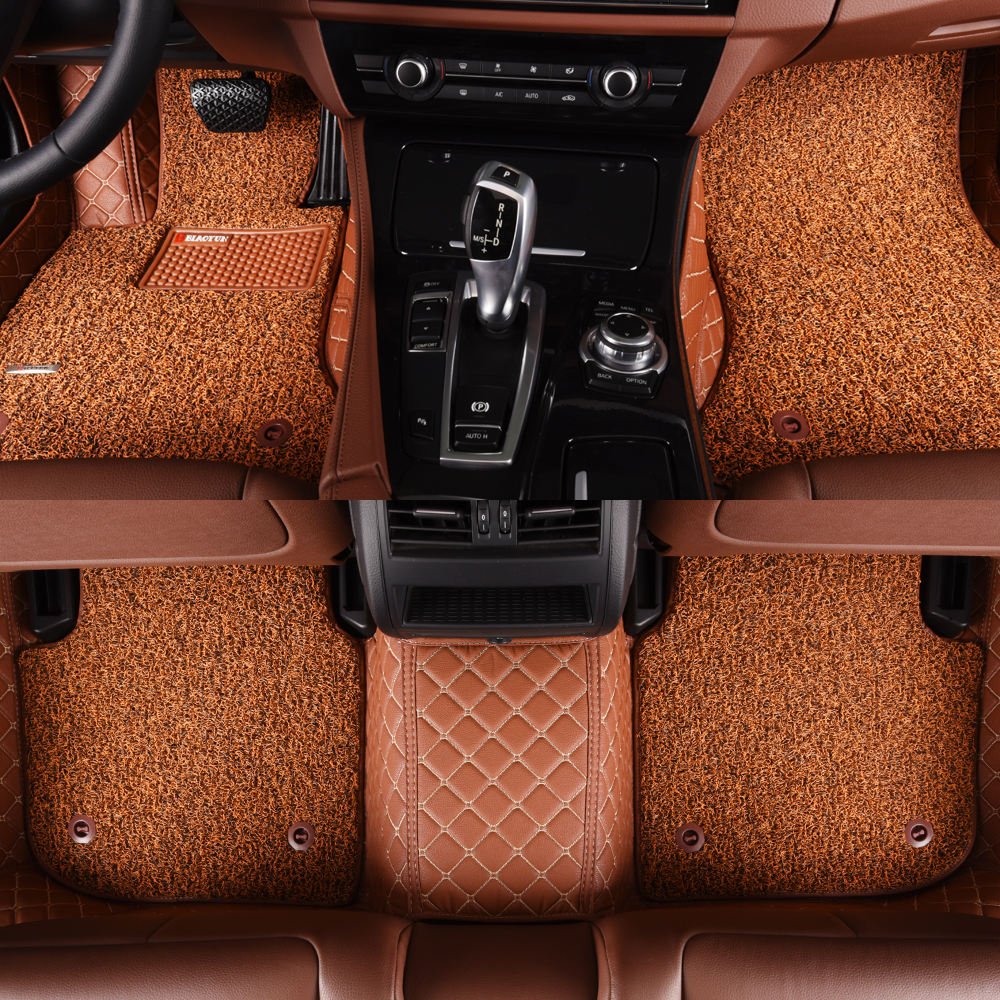 2019 New design Dasheng M-10 customized For Vw Golf and Tiguan, 2-layer, leather- coil made CAR MATS