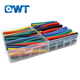 QWT 385pcs pvdf electrical insulation polyolefin silicone rubber 300mm dual wall heat shrink tube