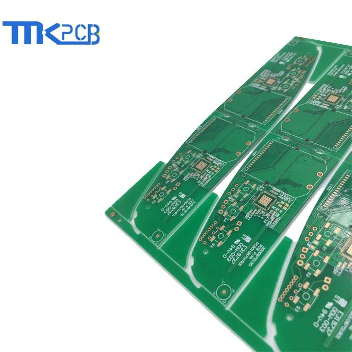 green gold printed circuit board GPS tracker pcb buried blind vias PCB circuit protection module PCB