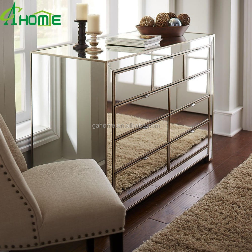 Elegant freshing bedroom Made in China Mirrored Dresser
