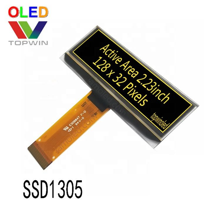"""White 0.87/"""" inch OLED Display Panel 128x32 Pixel IIC I2C with SSD1316 Controller"""