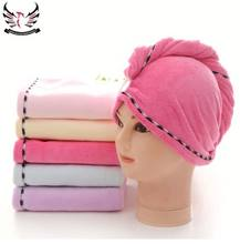 Wholesale soft textile hair drying towel promotion Microfiber hair towel