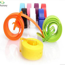 Multi color customer logo fashion plastic buckle pure silico