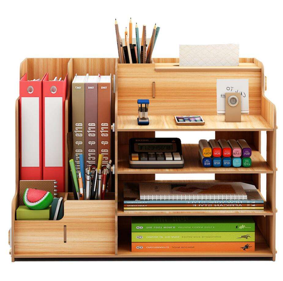 DIY Folder Book Stationery Office Desk Storage Organizer