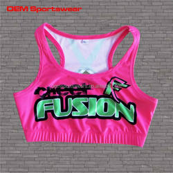 Beautiful girl's cheer leading sports bras