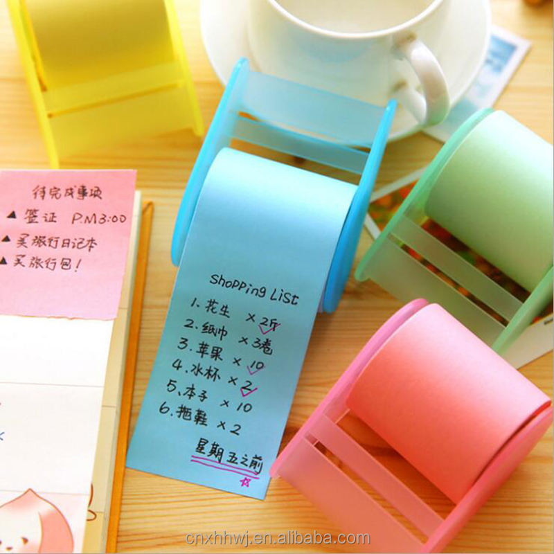 high quality colorful rolls sticky note dispenser