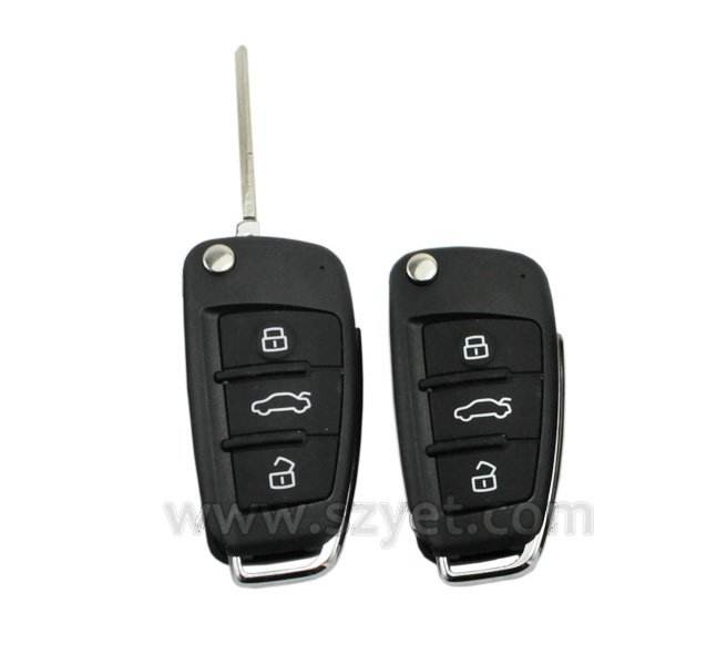 3 button flip auto remote key casing and auto key j48
