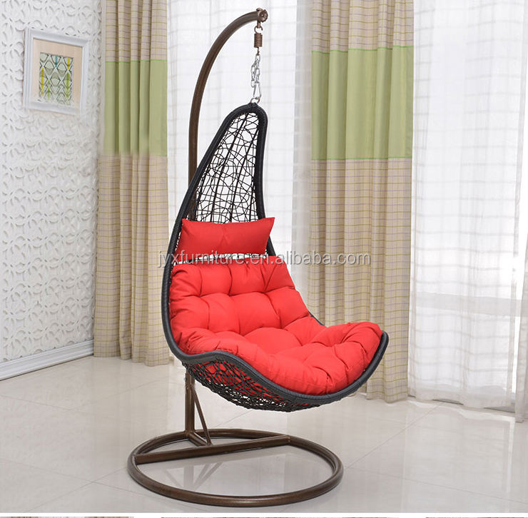Swing chair with cushion garden furniture outside sleep sofa outdoor furniture