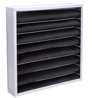 Galvanized frame activated carbon panel filter pleat air filter for industial ventilation systems