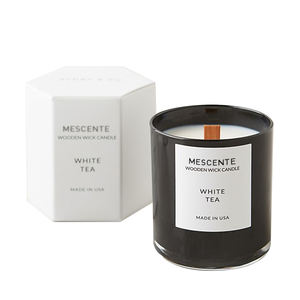 Mescente private label white tea scented soy candles In Jars