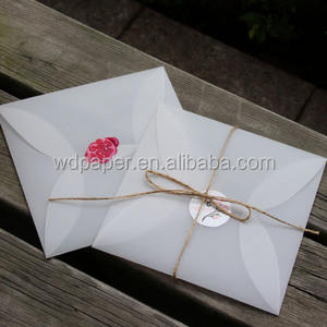 Chinese Suppliers Yiwu Wholesale Fancy Custom hot stamping Transparent paper envelope