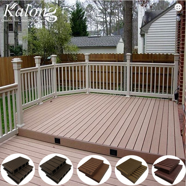 Affordable antislip coffee wpc DIY garden outside composite decking
