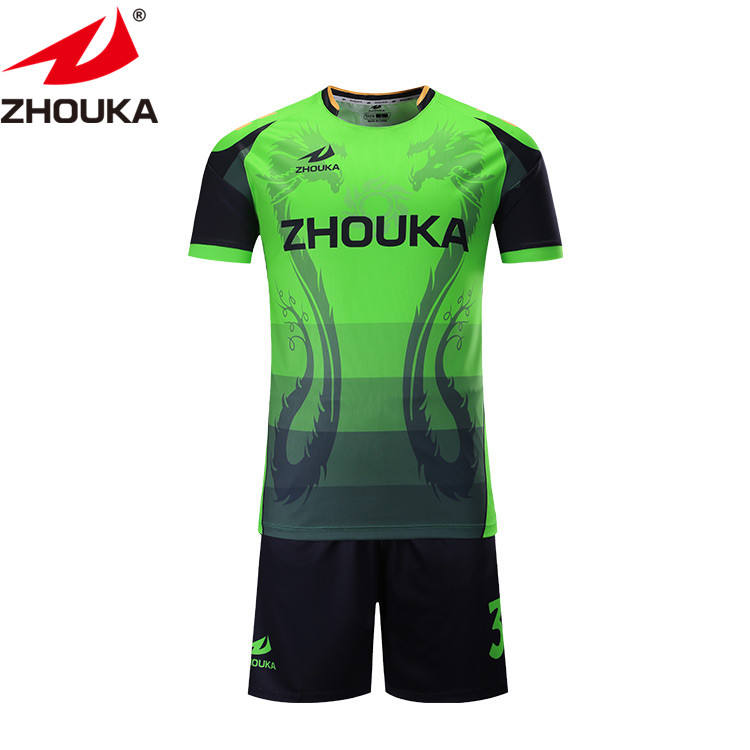 Top Quality custom soccer wear football Uniform Jersey and pants green soccer uniforms ropa deportiva damas
