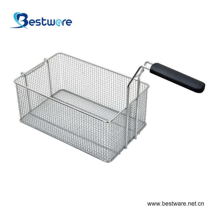 Kitchen Accessories Canastillas Para Freidoras Commercial Chicken Frying Punched Metal Stainless Steel Fry Basket