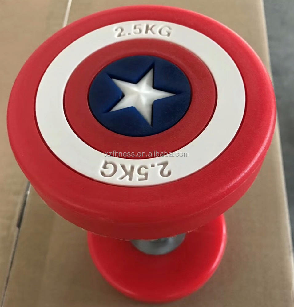 Wholesale Captain America Round PU Dumbbell