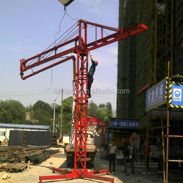 Placing Boom 12m 15m 18m Electric Spider Concrete Placing Boom / Concrete Placer / Concrete Distributor