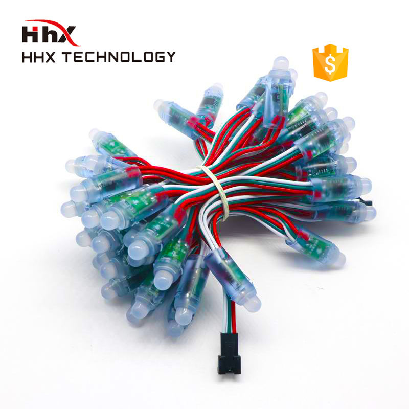 HHX 12mm rgb led pixel waterproof 12V ip66 3cables AlGaInP Chip Material and CE Certification led pixel
