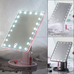 professing 22 LED Touch Screen Makeup Mirror Tabletop Cosmetic light up Mirror