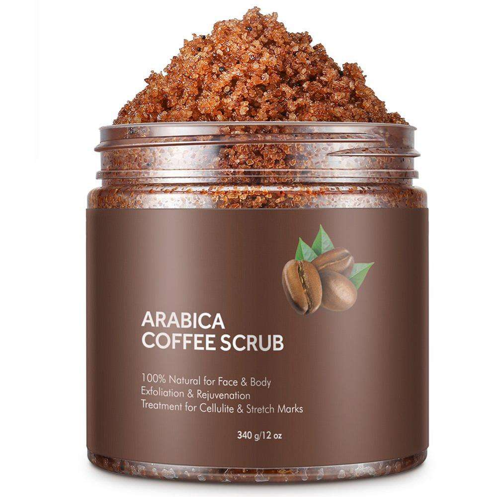 Hot Sell 100% Natural Arabica Coffee Body Scrub For Deep Cleansing