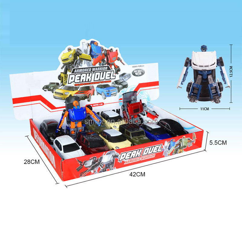 Hot selling transformatie auto voor kid kerstcadeau 1:32 <span class=keywords><strong>gegoten</strong></span> auto