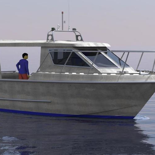 31ft longliner Aluminum Fishing Boat with cabin
