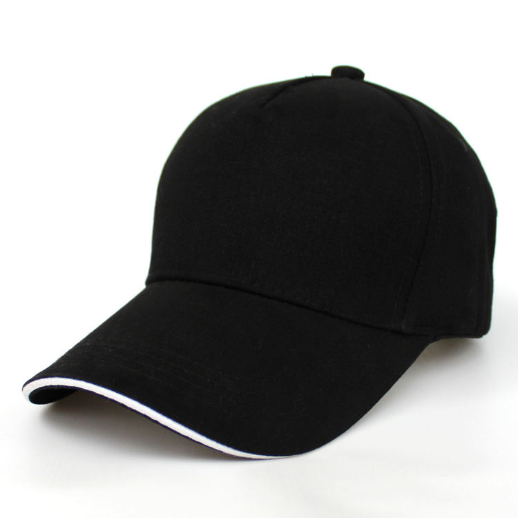 100% pure cotton high quality 5 panel outdoor baseball cap hat whole custom adjustable metal slide buckle Fashion baseball cap