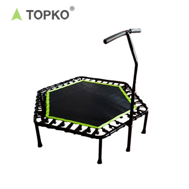 TOPKO Reliable Adult Indoor Bungee Cord Jumping Rebounder Gymnastic Fitness Mini Hexagon trampoline