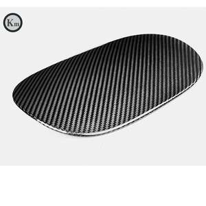 KM for carbon fiber material fuel tank cover cap gas cover cap for Macan 95B 2014-2018